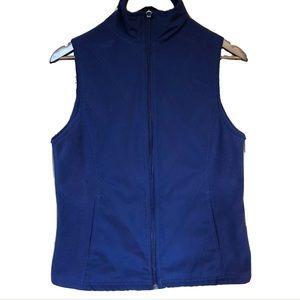 Columbia Women's Small Vest Full ZIP Pockets Blue
